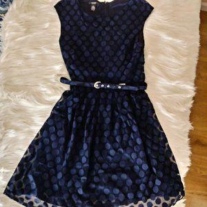 Alfani Navy Dotted Dress